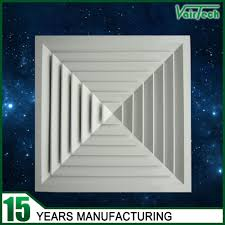 Drop Ceiling Air Vent Deflector by Aluminum 4 Way Ceiling Air Vent Air Supply Registers For Hvac