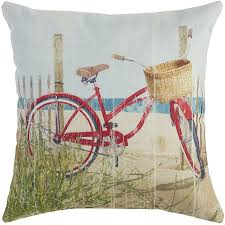 bicycle red pillow pier 1 imports