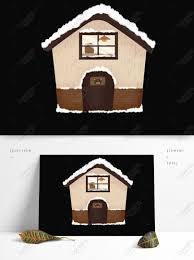 100 House Na Kamay Iguguhit Vintage Snow House Na Disenyo Ng Kahoy Na