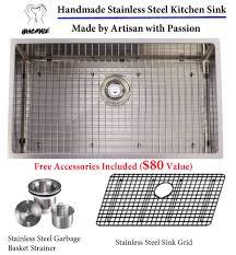 Franke Sink Grid Uk by Aquarius Single Stainless Steel Hand Made Undermount Kitchen Sink