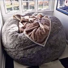 Bean Bag Couch With Pillow And Blanket
