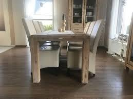 stuhl stühle musterring 6 stück echt leder creme weiß