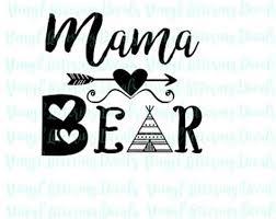 Mama Bear Clipart Etsy