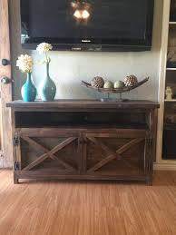 Rustic TV Solid Wood Entry Way Table Credenza Tv Stand