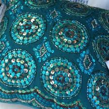 off Accessories PIER ONE embellished pillows embroidered
