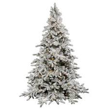 Flocked Utica 10 Green Fir Artificial Christmas Tree With 1250 LED Warm White Lights Stand By Vickerman