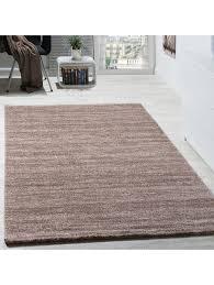 paco home teppich kurzflor modern gemütlich preiswert mit melierung beige creme braun klingel