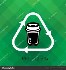 Recycle Sign With Paper Cup Icon And Word Is Remind People To Cycle Used For A Good Environmental Eco Friendly System Reduce Reuse