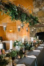 Rich Green Foliage Centerpiece Rustic Wedding Centerpieces