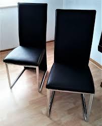 küche esszimmer stühle 2er set in chrom schwarz neuwertig