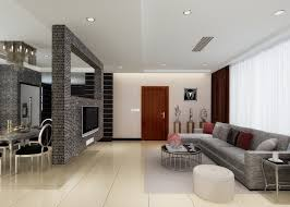 Brick Wall Partition Between Living Dining Room House Dma Homes Glass Kitchen And