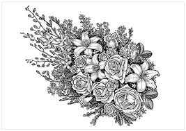 Free Adult Printable Coloring Pages Roses Heart Home