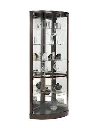 Curved Glass Curio Cabinet Antique by Amazon Com Pulaski Cannes Corner Curio Cabinet Sable Kitchen