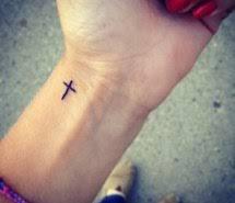 Cross Tattoo Girls Hand Hands Tattoos Wrist