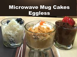 3 Classic Microwave Mug Cakes without Eggs