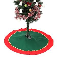Red And Green Christmas Tree Skirt Stands Ornaments Xmas Party Decoration About85cm