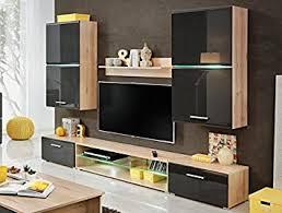 wohnzimmer hochglanz möbel schrank set display wohnwand