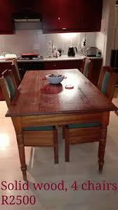 R 2 500 For Sale Solid Wood 4 Seater Kitchen Dining Set Porterville Western Cape