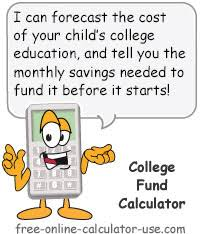 college fund calculator formulate a savings plan for your child