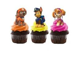 Paw Patrol Edible Wafer Stand Up Cupcake Toppers