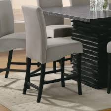 Amazon Coaster Home Furnishings 102069Gry Contemporary Counter Height Chair Black Dark Grey Set Of 2 Kitchen Dining