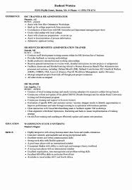Hr Orientation For New Employees On Resumes Trainer Resume Samples