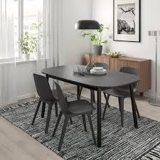 vedbo odger tisch und 4 stühle schwarz anthrazit ikea