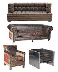 canapé vieux cuir canapés et fauteuils cuir vintage