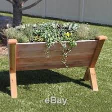 unique plant wedge red cedar wood raised garden bed planter usa made