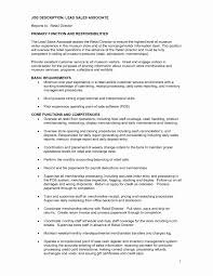 Sample Resume Retail Sales Associate No Experience Lovely Dillards Job Description Yelomphone Pany