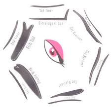 cat eye template cat eye smokey makeup eyeliner stencil 6 styles shaping guide
