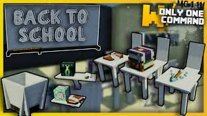 minecraft modern school furniture only one command only one command