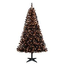 Holiday Time Pre Lit 65 Madison Pine Black Artificial Christmas Tree Clear