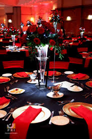 Black And Red Table Decorations Decorating Of Party