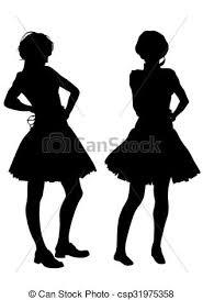 Women In Dress Vector