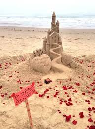 Will You Marry Me Sandcastle