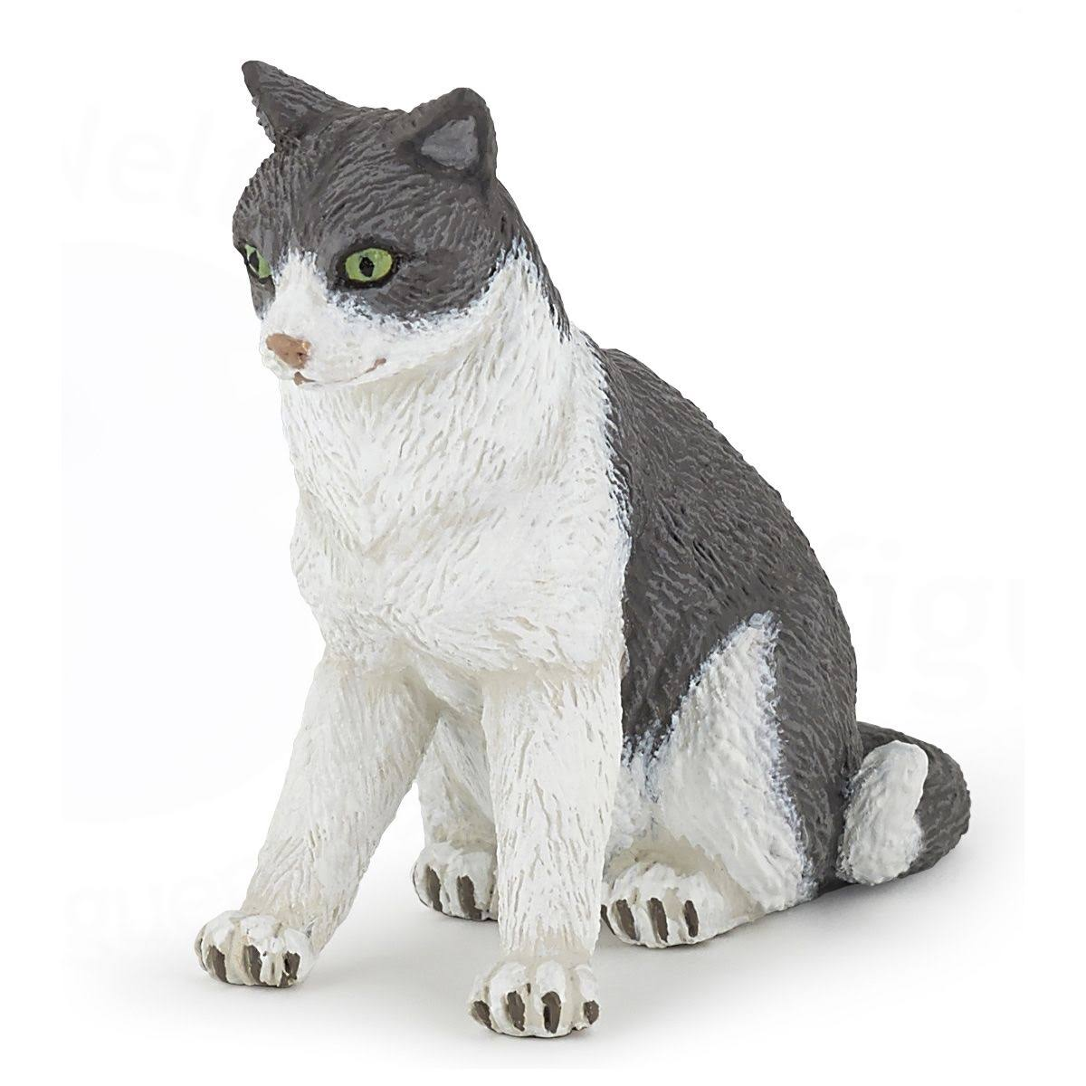 Papo 54033 Cat Sitting Down Figure - 2-3/8""