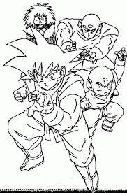 My Family Fun Dragon Ball Z Printable Coloring Page The Most Intended For
