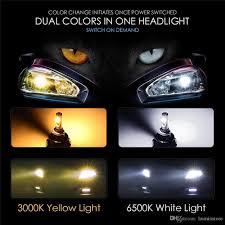 2018 h7 h4 9005 9006 h11 car led headlight bulbs yellow light