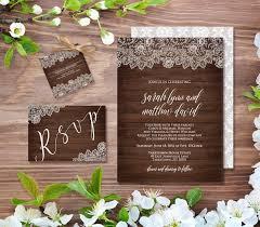 Wedding Invitation Template Rustic Wood Vintage Lace DIY Instant Download Printable Invite Digital Editable PDF