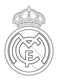 Escudo Real Madrid Para Colorear