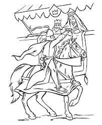 Medieval Knights Coloring Page