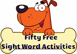 Writing Sight Words Clipart
