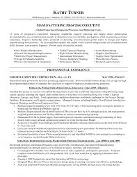 Sample Resume For Project Manager In Manufacturing One Production Free