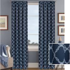 Navy Blue Chevron Curtains Walmart by Better Homes And Gardens Trellis Room Darkening Curtain Panel