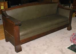 Very Heavy Solid Mission Oak Sofa With Panel Sides New Upholstery Circa 1900 Antique Furniture