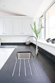 Honed Black Granite Modern Kitchen By Maple Gray