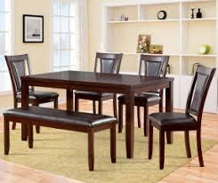 Harlow 6 Piece Padded Dining Set With Bench