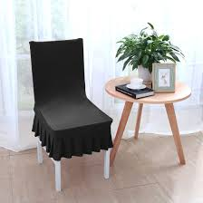 Unique Bargains Stretchy Spandex Ruffled Skirt Short Dining Room Chair  Covers Washable Removable Seats Protector Slipcovers For Wedding Party ... Marges Custom Slipcovers Home 46 Best Of Ornamental Pictures Pottery Barn Outdoor Stunning Plastic Covers For High Back Ding Chairs Pool Excellent Blue Room Chair Ideas Velvet Gorgeous Black And White Modern Leather Replacement Hawthorne Target Wood Fniture Design Seat 65 Types Creative Prints Slipcover Damask Arm Long Indoor Windsor Cherry Details About 2pcs Universal Stretch Chaircover New Bedding Cover Hotel Banquet Wedding