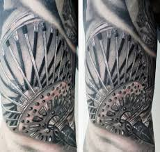 Male Motorcycle Wheel Spokes Tattoo Art